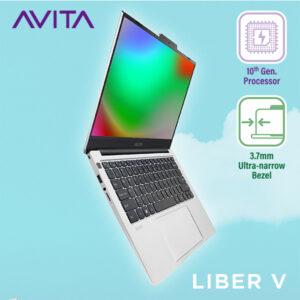 Laptop AVITA LIBER V 14 – Màu xám Cloud Silver – INTEL CORE I5-10210U/RAM 8GB/ SSD 512MB Bảo hành 24 tháng – Tặng Ba Lô - Hàng Chính Hãng
